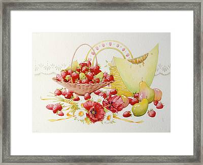 Strawberry Fayre Framed Print by Lynette Carrington-Smith