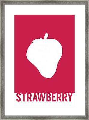 Strawberry Food Art Minimalist Fruit Poster Series 005 Framed Print