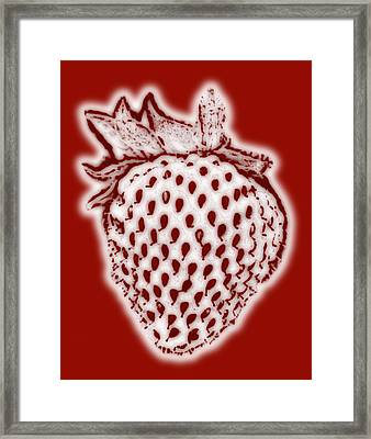 Strawberry Framed Print by Frank Tschakert