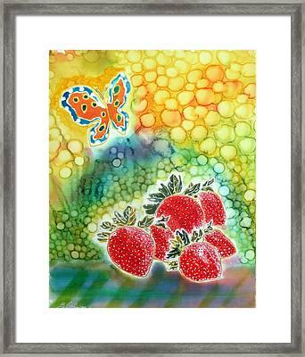 Strawberry Garden Framed Print by Beverly Johnson