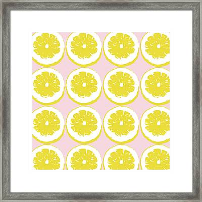 Strawberry Lemonade- Art By Linda Woods Framed Print by Linda Woods