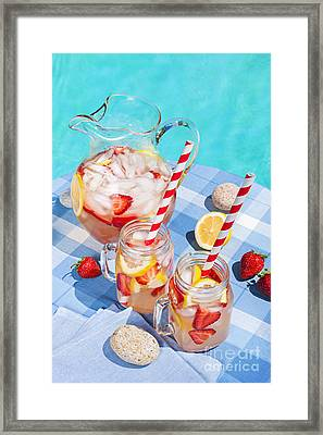 Strawberry Lemonade Framed Print by Elena Elisseeva