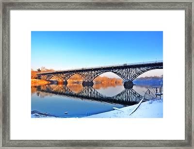 Strawberry Mansion Bridge  Framed Print by Bill Cannon
