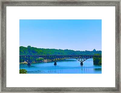 Strawberry Mansion Bridge From Laurel Hill Framed Print by Bill Cannon