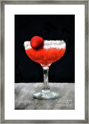 Framed Print featuring the photograph Strawberry Margarita by Lois Bryan