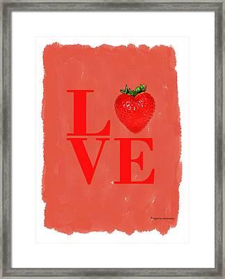 Strawberry Framed Print by Mark Rogan