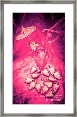 Strawberry Martini In Pink Light Framed Print by Jorgo Photography - Wall Art Gallery