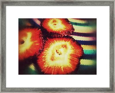 Strawberry Framed Print by Olivier Calas