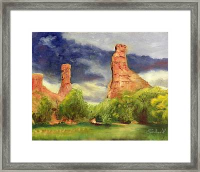 Strawberry Pinnacles Framed Print