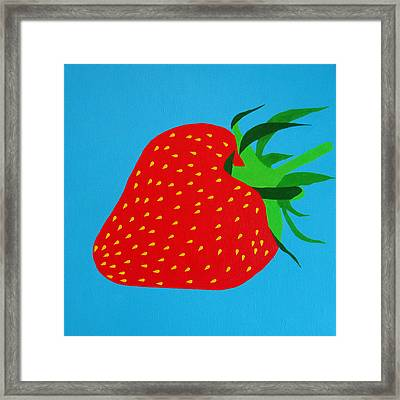 Strawberry Pop Framed Print by Oliver Johnston