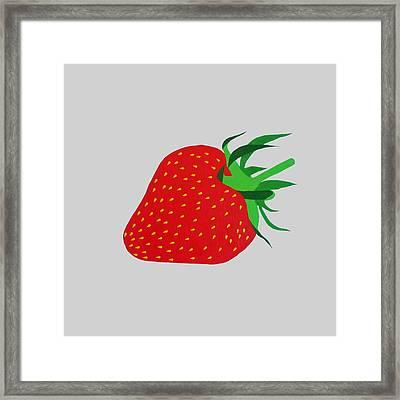 Strawberry Pop Remix Framed Print