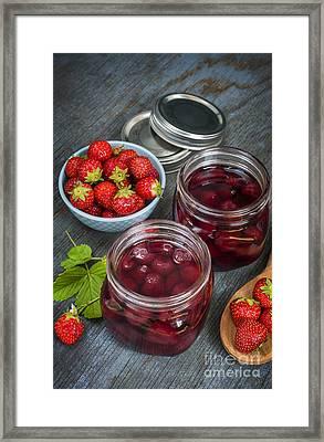 Strawberry Preserve Framed Print by Elena Elisseeva