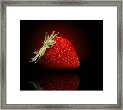 Strawberry Sensuality Framed Print by Georgiana Romanovna