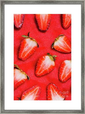 Strawberry Slice Food Still Life Framed Print by Jorgo Photography - Wall Art Gallery