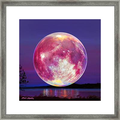 Strawberry Solstice Moon Framed Print by Robin Moline