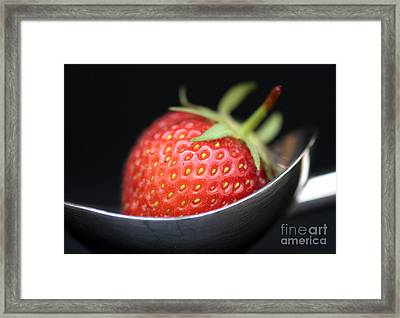 Strawberry Spoon Framed Print by Tim Gainey