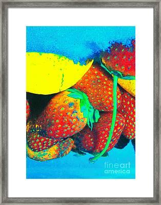 Strawberry Sun  Framed Print by Kristine Nora