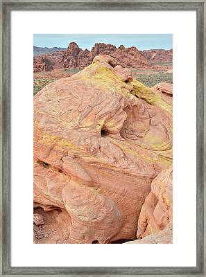 Framed Print featuring the photograph Strawberry Swirl In North Valley Of Fire by Ray Mathis