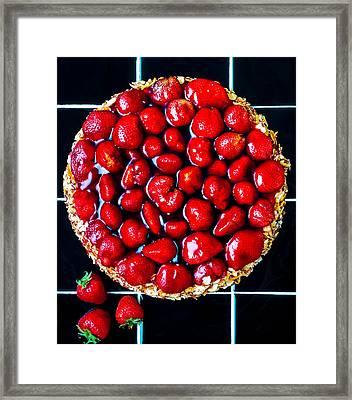 Strawberry Tart Pie Framed Print