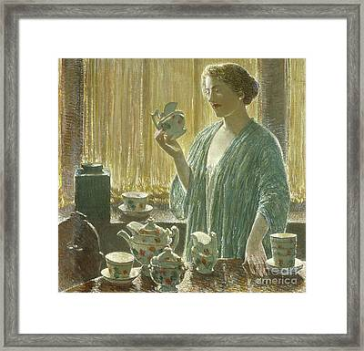 Strawberry Tea Set, 1912 Framed Print by Childe Hassam