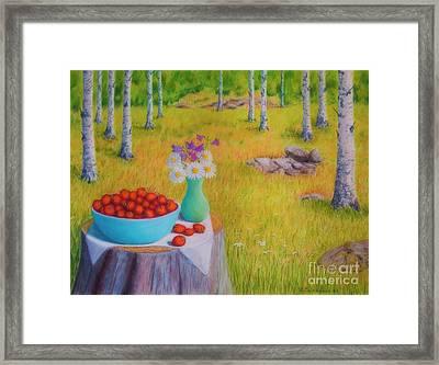 Strawberry Time Framed Print by Veikko Suikkanen