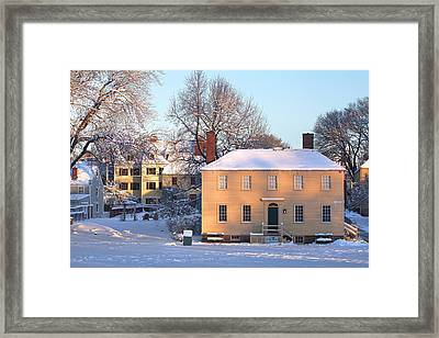 Strawbery Banke In Portsmouth Framed Print by Eric Gendron