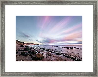 Streaking On The Beach Framed Print