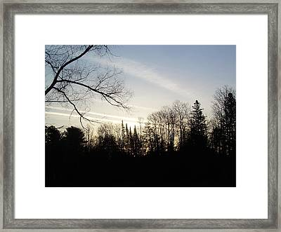 Framed Print featuring the photograph Streaks Of Clouds In The Dawn Sky by Kent Lorentzen