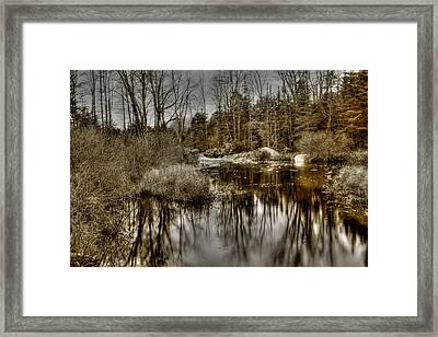 Framed Print featuring the photograph Stream II by Greg DeBeck