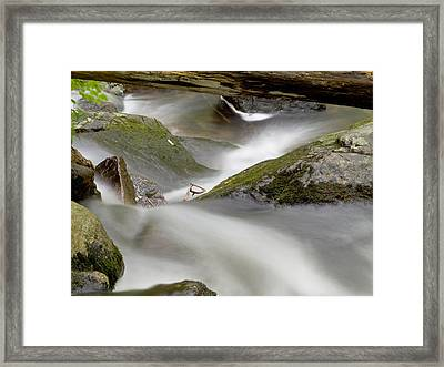 Stream In Motion Framed Print by Jim DeLillo