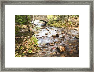 Stream In The Fall Framed Print by Jon Glaser