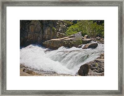 Framed Print featuring the photograph Stream In Yosemite National Park by Matthew Bamberg