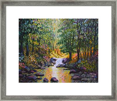Stream Light Framed Print