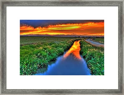 Stream Of Light Framed Print by Scott Mahon