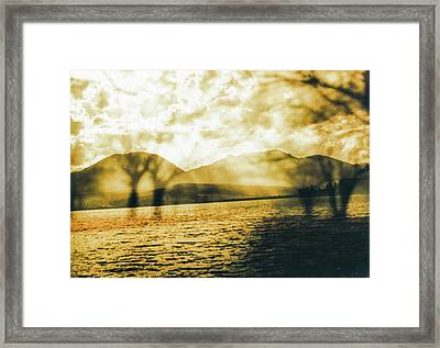 Streaming Above The Water Framed Print by Paul Shefferly