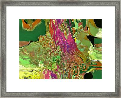 Streaming Saree Framed Print