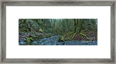 Streaming Through Goldstream Framed Print by Adam Jewell
