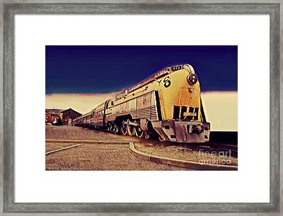 Streamlined Alco 4-6-4, Co 490  Hudson Type Locomotive Framed Print