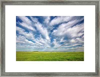 Streams Of Clouds Framed Print by Todd Klassy