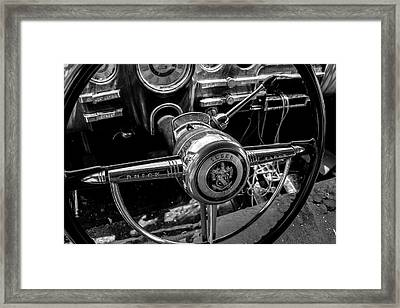 Streering Column Of A Buick Eight Framed Print