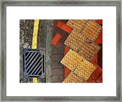 Street Abstract Framed Print by Joe Bonita