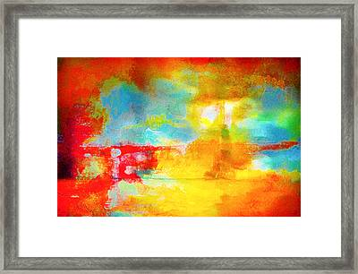 Street Abstract Framed Print by Tom Gowanlock