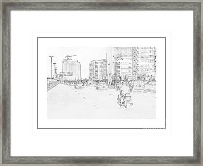 Street Activities Framed Print by Hussein Kefel