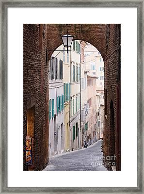 Street Archway Framed Print