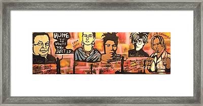 Street Art Lives Framed Print by Tony B Conscious