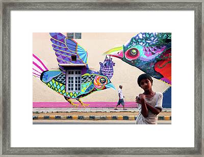 Street Art Framed Print by Marji Lang