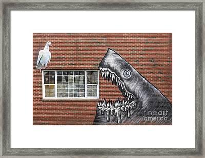 Street Art Portsmouth New Hampshire Framed Print
