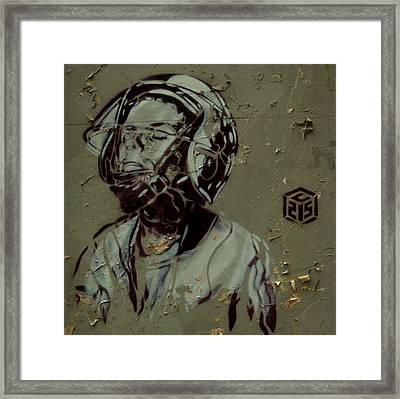 Wheat Paste Art Abstract  Framed Print by Sheila Mcdonald