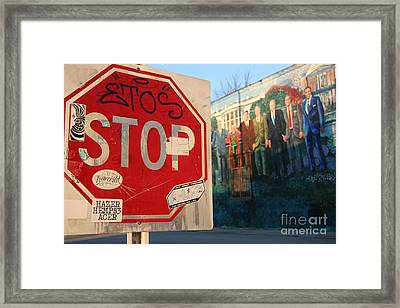Street Art Washington D.c.  Framed Print by Clay Cofer