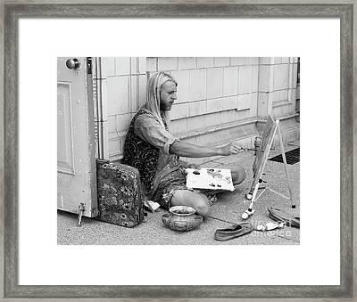 Street Artist Framed Print